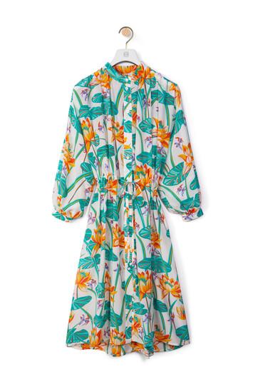 LOEWE Shirt Dress In Waterlily Silk White/Orange front