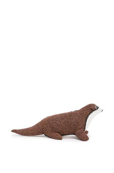 LOEWE Otter bag in wool and calfskin Oak/Tan pdp_rd