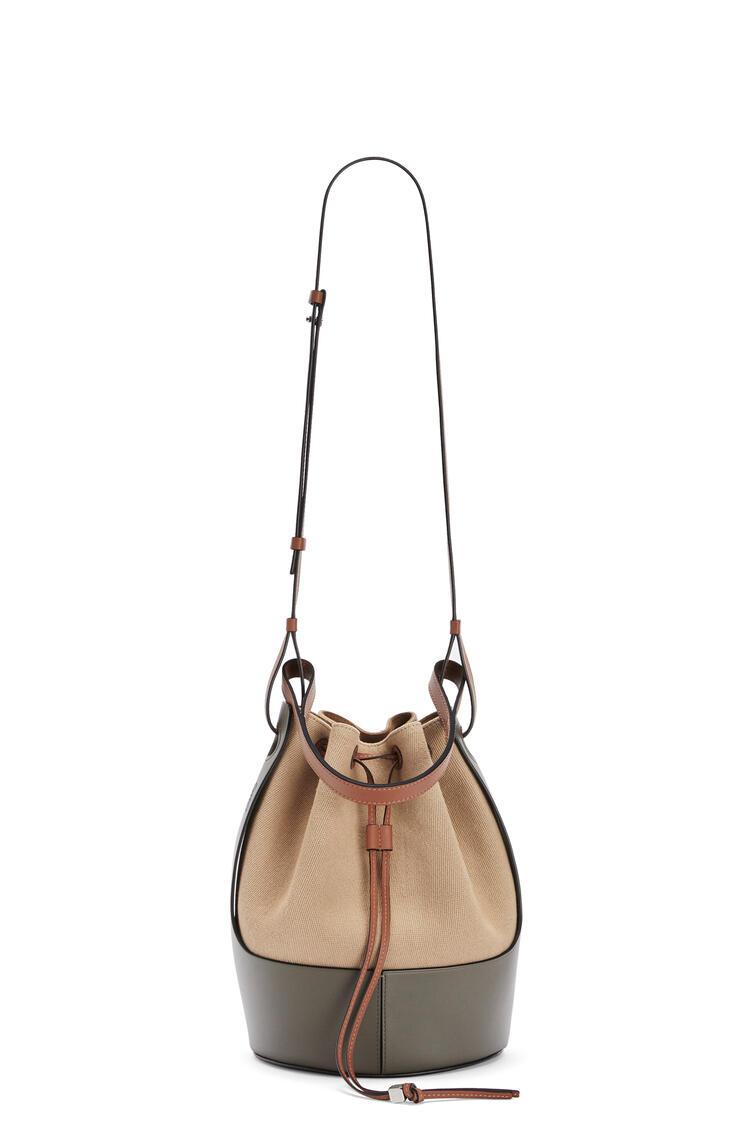 LOEWE Balloon bag in canvas and calfskin Creta/Green pdp_rd