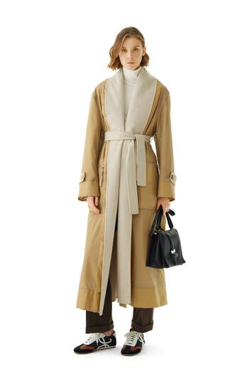 LOEWE Double Layer Coat Camel/Beige front