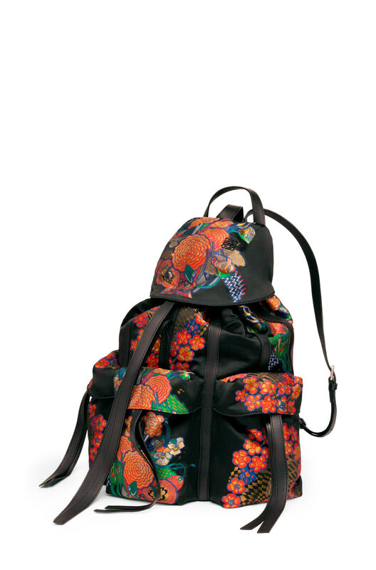 LOEWE Rucksack Bouquet Black/Multicolor front
