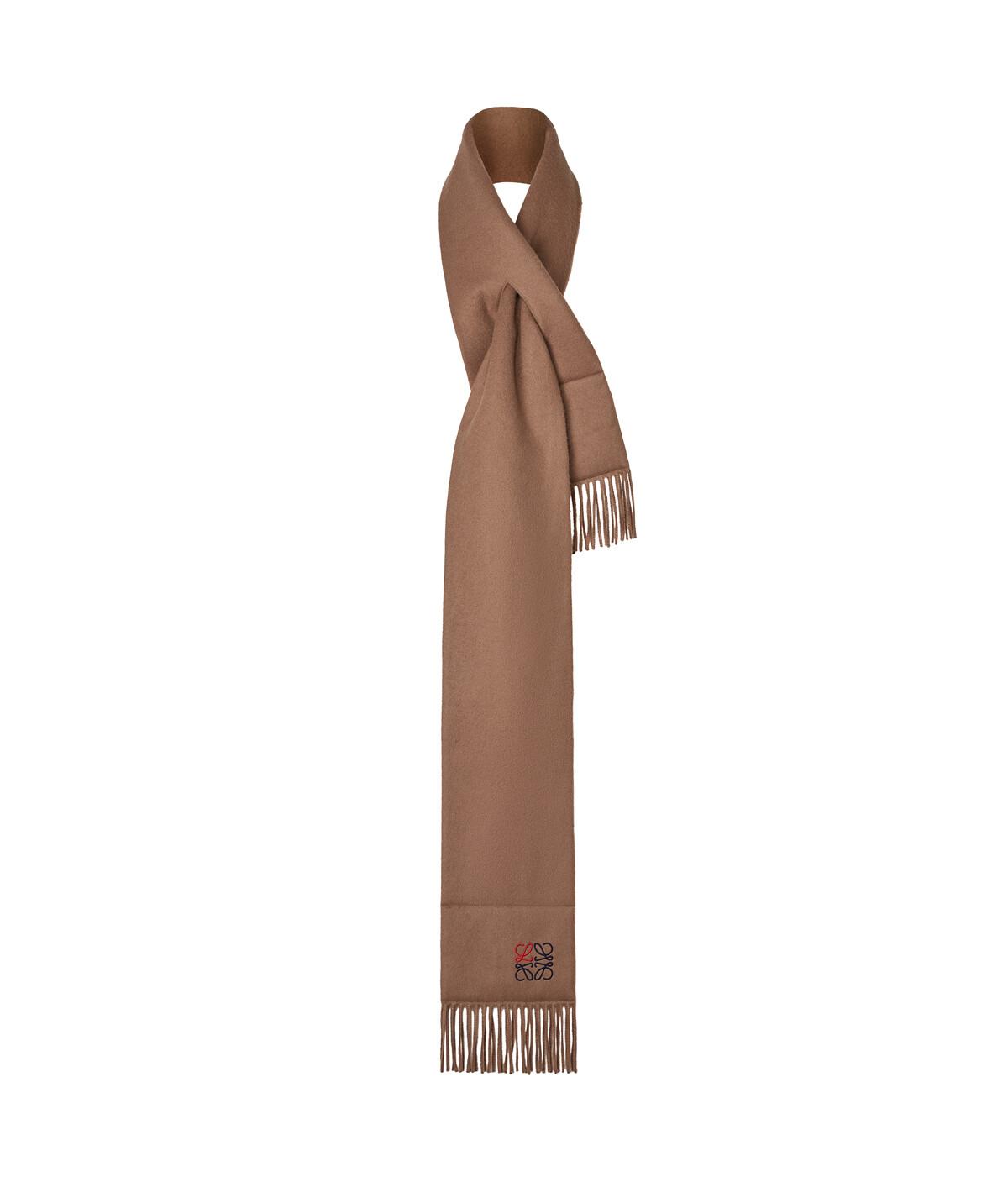 LOEWE 17X190 Anagram棉质围巾 驼色 front
