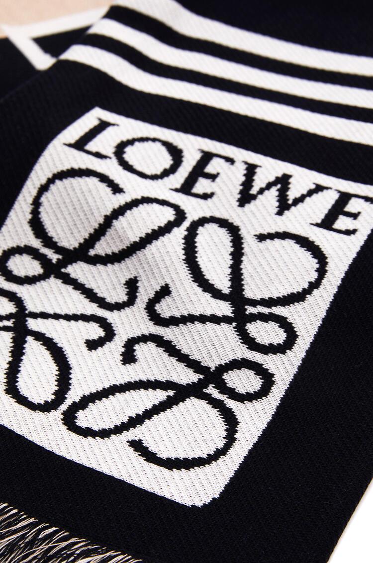 LOEWE Bufanda De 18 X 135 Cm En Jacquard De Algodón Loewe Beige/Marino pdp_rd