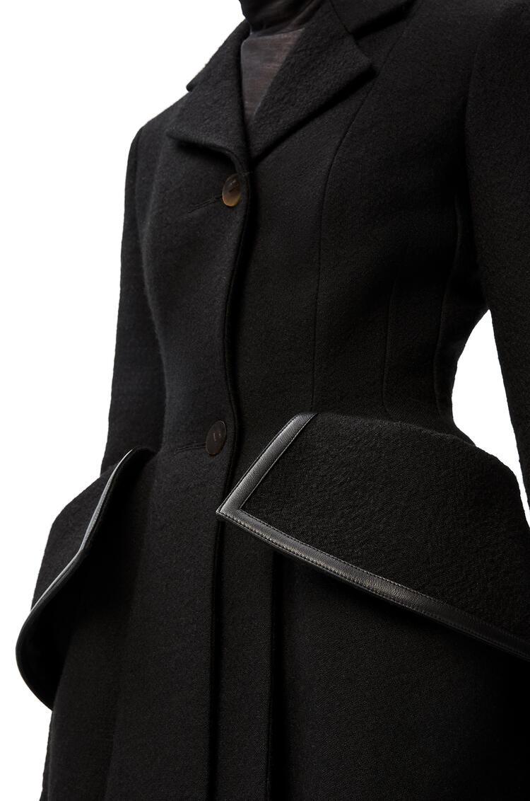 LOEWE Flap pocket jacket in wool Black pdp_rd