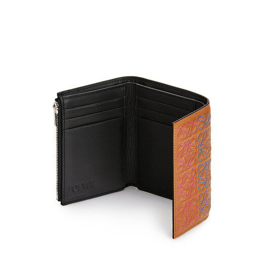 LOEWE Small Vertical Wallet Tan/Multicolor front