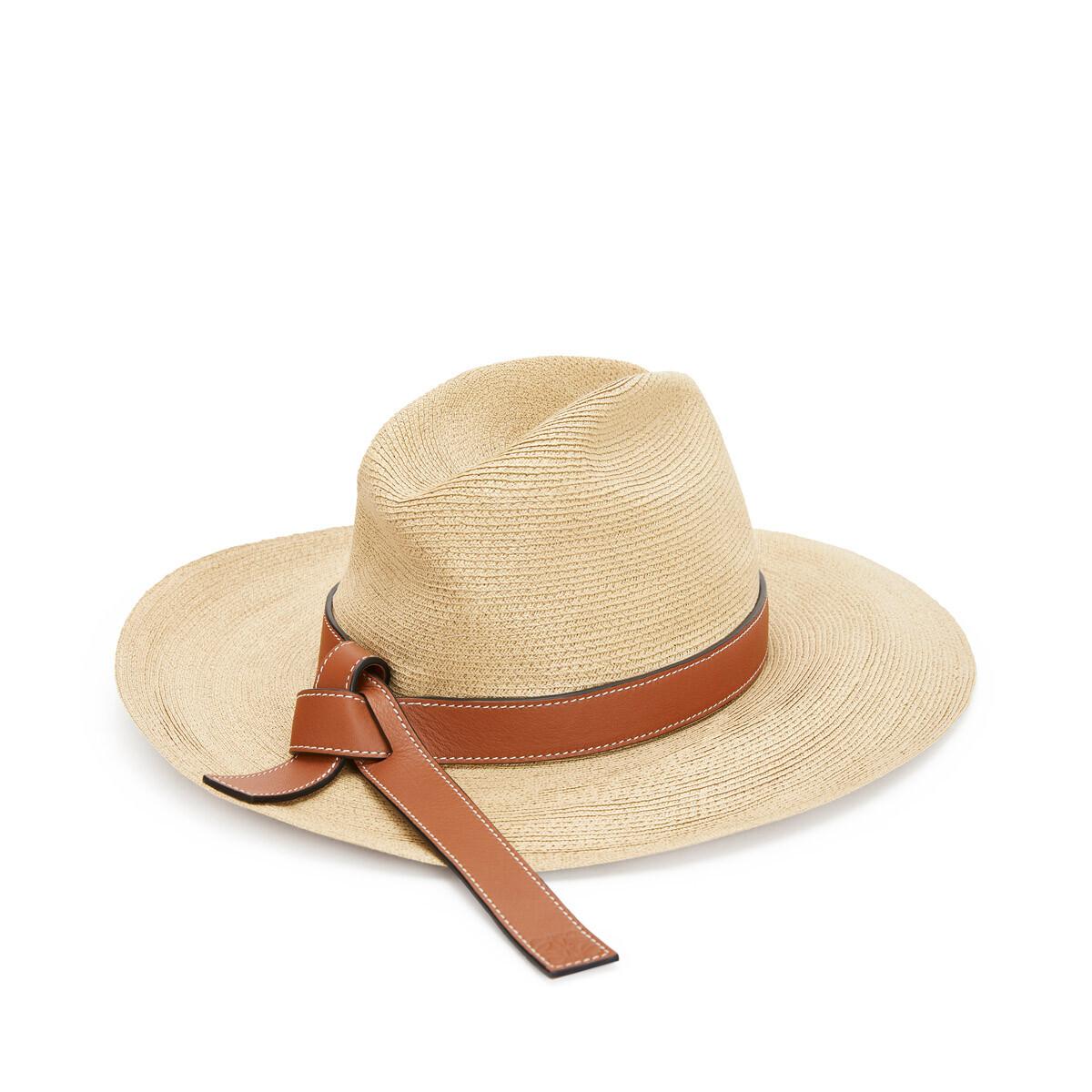 LOEWE Panama Hat 原色/棕褐色 front