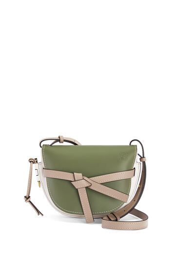 LOEWE 小号柔软牛皮革 Gate 手袋 Avocado Green/Sand pdp_rd