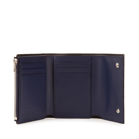LOEWE Small Vertical Wallet Navy Blue all