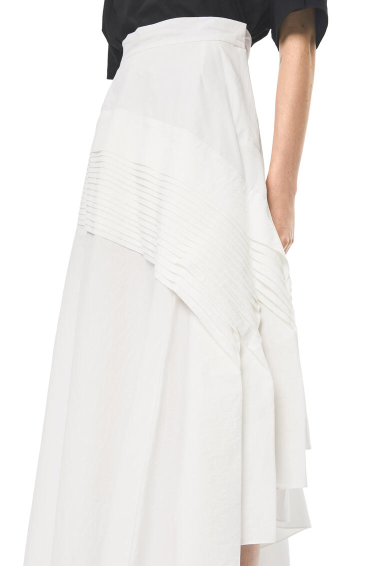 LOEWE Pleated Side Skirt In Cotton White pdp_rd