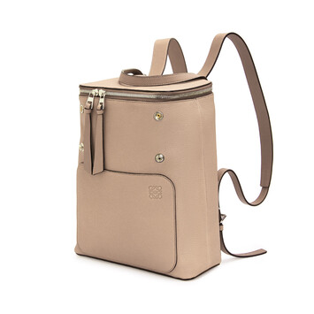 LOEWE Goya Small Backpack Light Oat  front