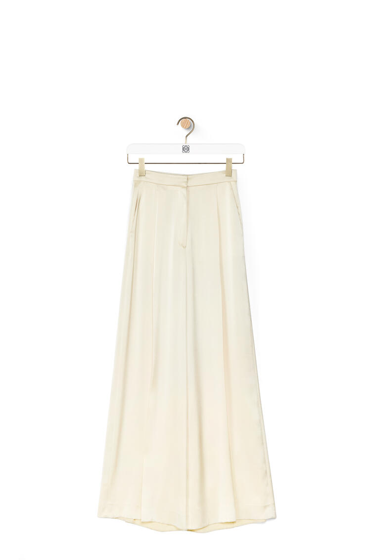LOEWE Fluid trousers in satin Ivory pdp_rd