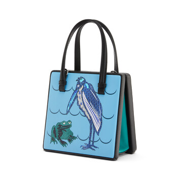 LOEWE Postal Tile Animals Bag Dusty Blue front