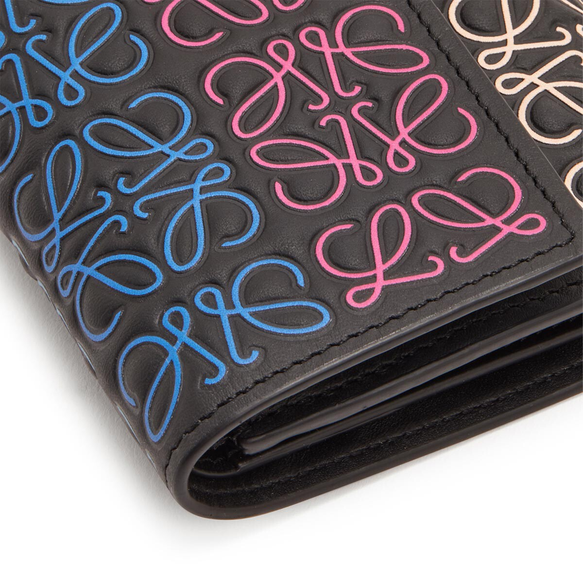 LOEWE Small Vertical Wallet Black/Multicolor front