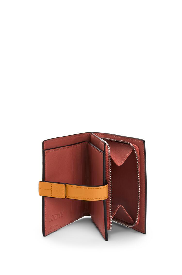 LOEWE Compact zip wallet in soft grained calfskin Light Oat/Honey pdp_rd