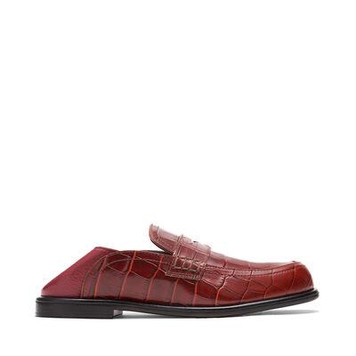LOEWE Slip On Loafer Brick Red front