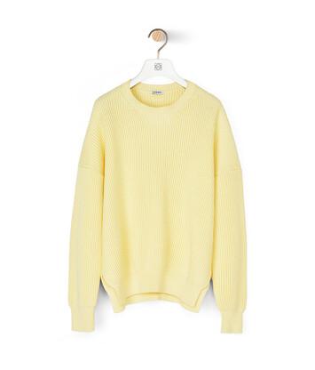 LOEWE Rib Sweater Mimosa Yellow front