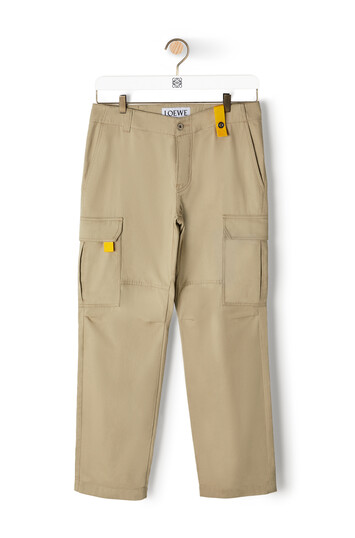 LOEWE Eln Cargo Trousers 米色 front