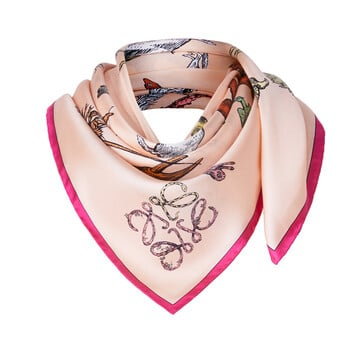 LOEWE 90X90 Scarf Alphabet Pink front