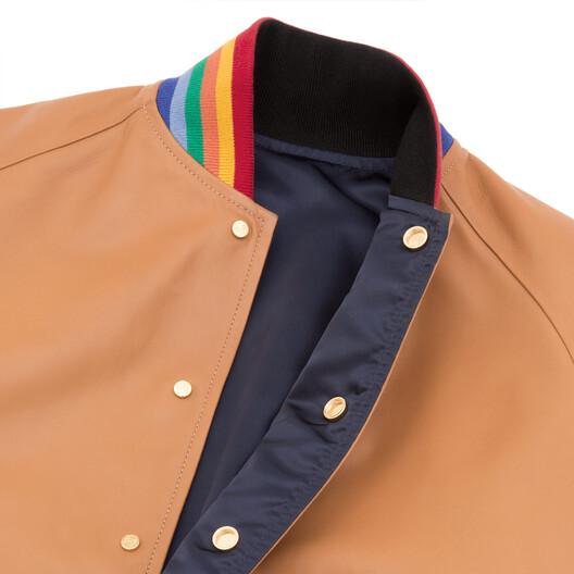LOEWE Reversible Blouson Rainbow Rib Tan/Multicolor front