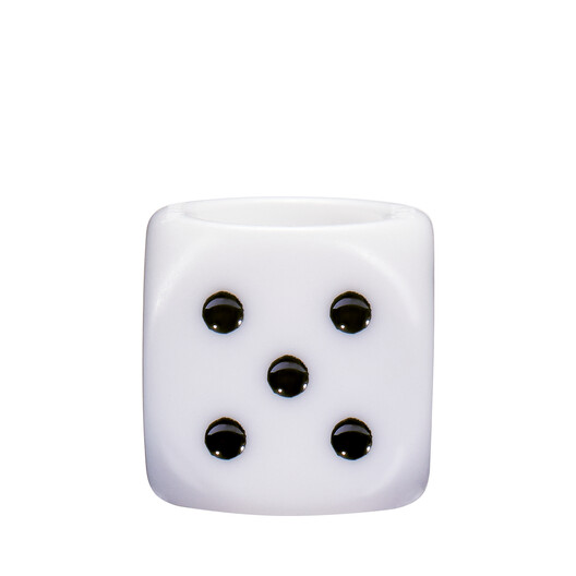 LOEWE Game Small Dice White front