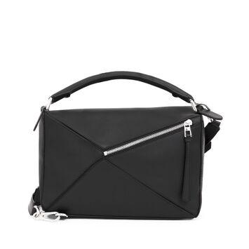 LOEWE Puzzle Bag Black front