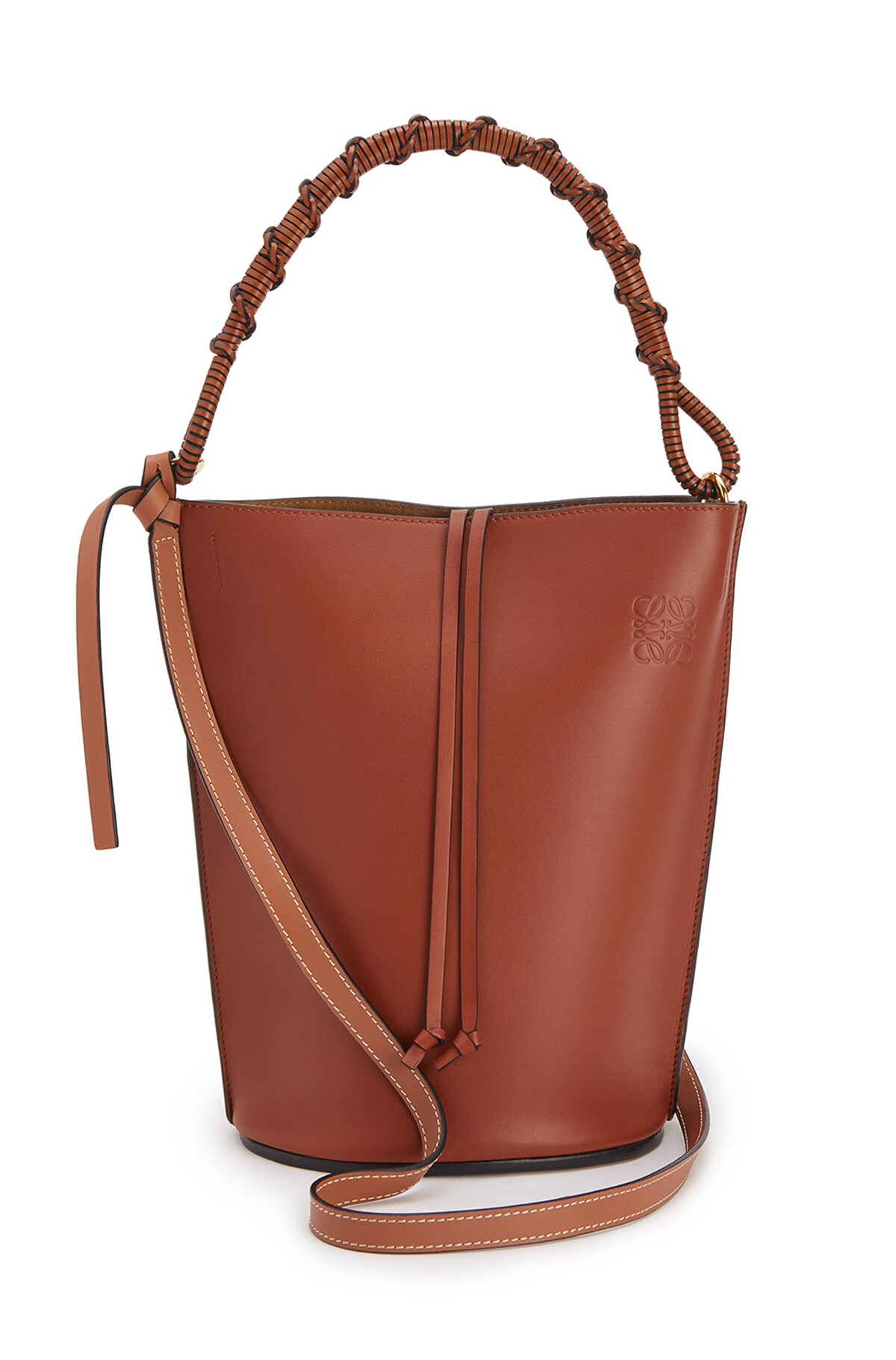 LOEWE Gate Bucket Handle Bag Rust Color front