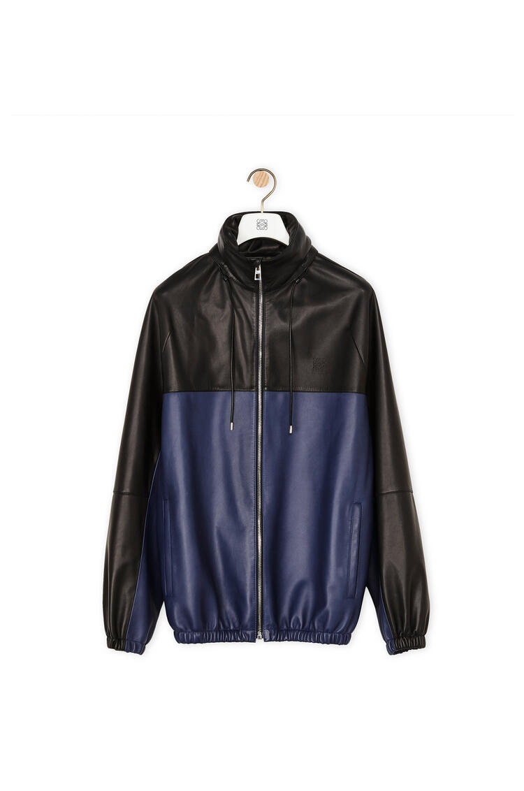 LOEWE Zip jacket in nappa Navy Blue pdp_rd