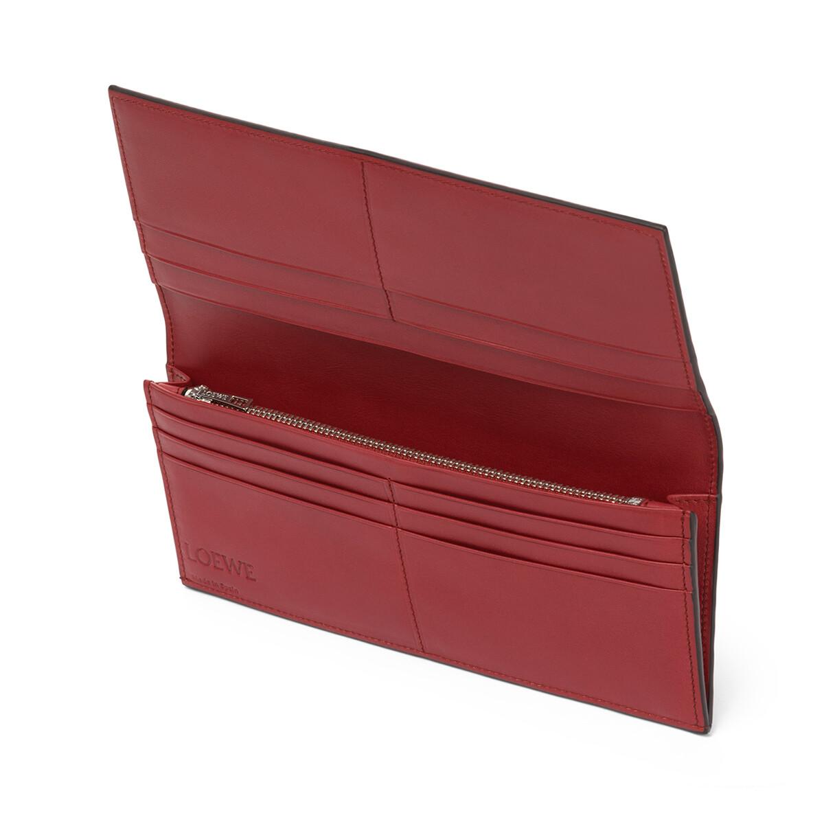 LOEWE Long Horizontal Wallet Marine/Brick Red front