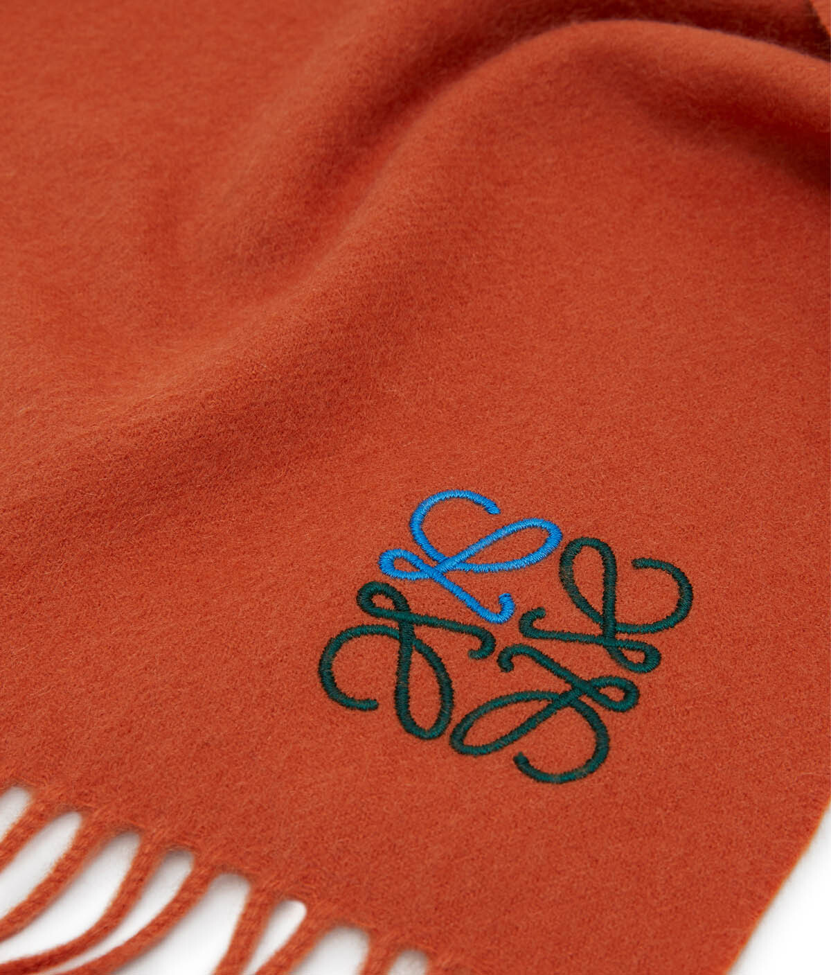LOEWE 35X170 Anagram Scarf Orange front