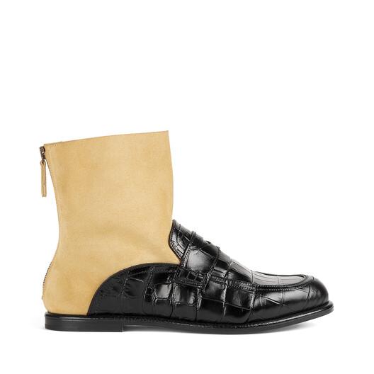 LOEWE Sock Boot Loafer Black/Gold front
