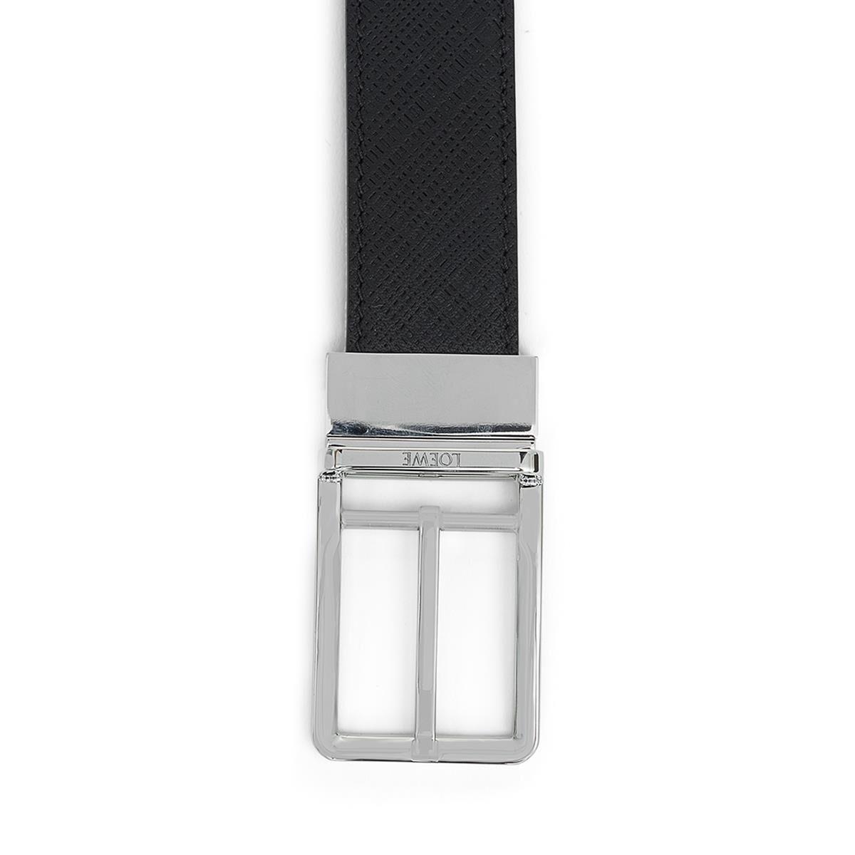 LOEWE Cinturon  Formal 3.2Cm Adj/Rev Negro/Paladio all
