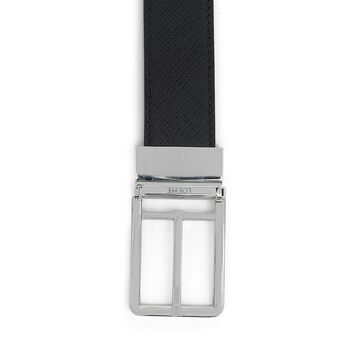 LOEWE Cinturon  Formal 3.2Cm Adj/Rev Negro/Paladio front