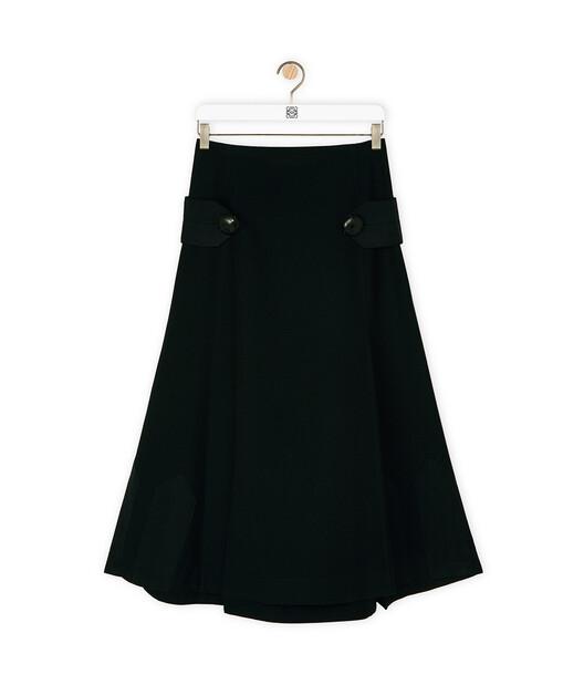 LOEWE Short Martignale Skirt Negro front