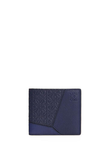 LOEWE Puzzle Bifold Coin Wallet In Calfskin Navy Blue pdp_rd