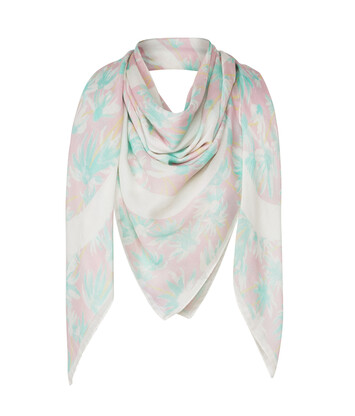 LOEWE 140X140 Scarf Daisy Pink/Light Green front