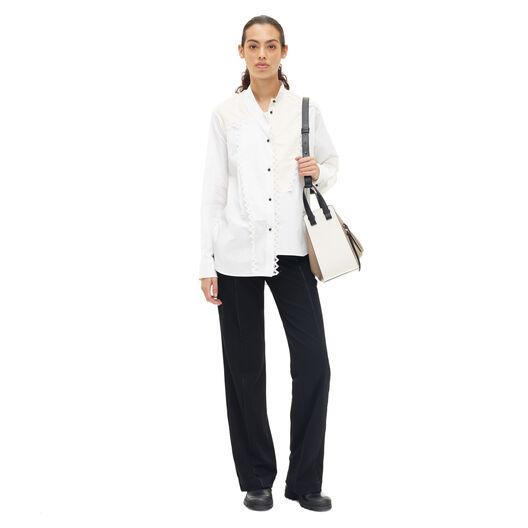 LOEWE Lace Trim Asymmetric Shirt Blanco all
