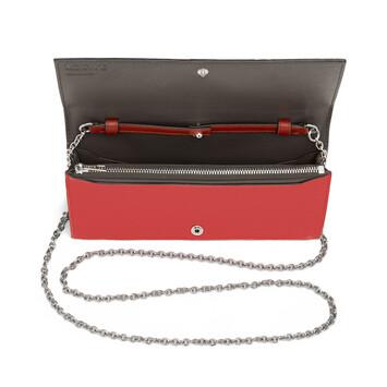 LOEWE Cartera Con Cadena Rojo Escarlata/Rojo Teja front