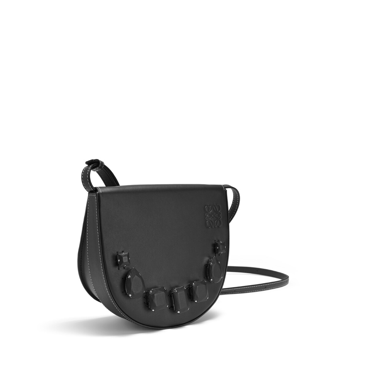 LOEWE Heel Mini Bag Jeweled Black front