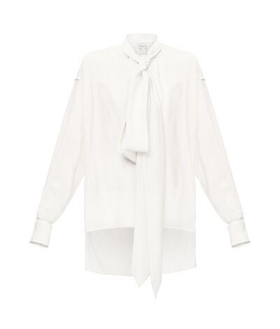 LOEWE Lavaliere Tunic Blouse Blanco/Marfil front