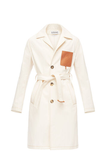 LOEWE Denim Trench Coat White front