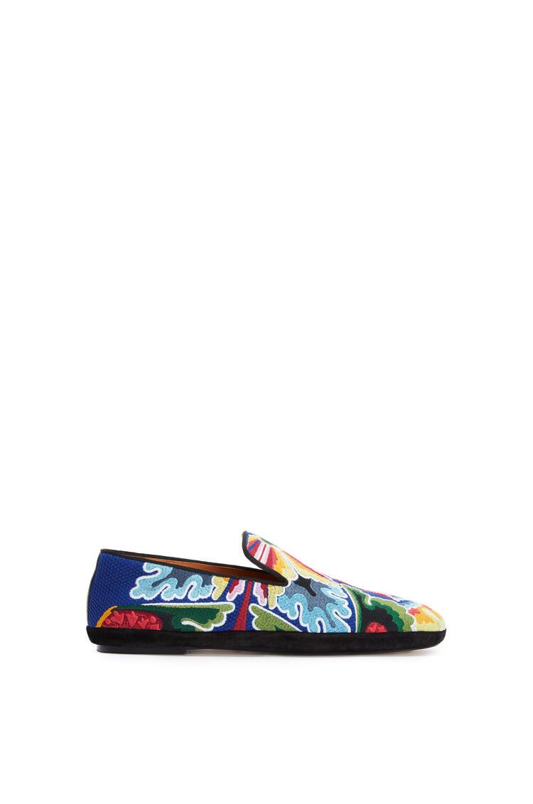 LOEWE 刺绣织物鞋 海军蓝/多色 pdp_rd