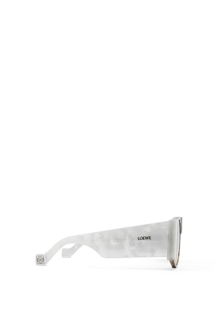 LOEWE 醋酸纤维遮面太阳镜 White/Smoke pdp_rd