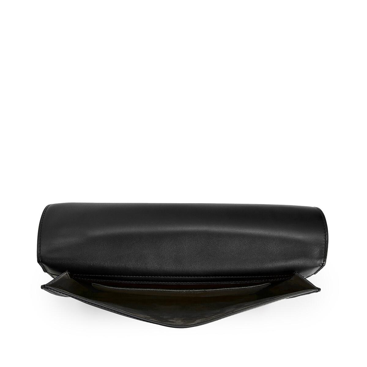 LOEWE Gusset Flat Messenger Bag Black front
