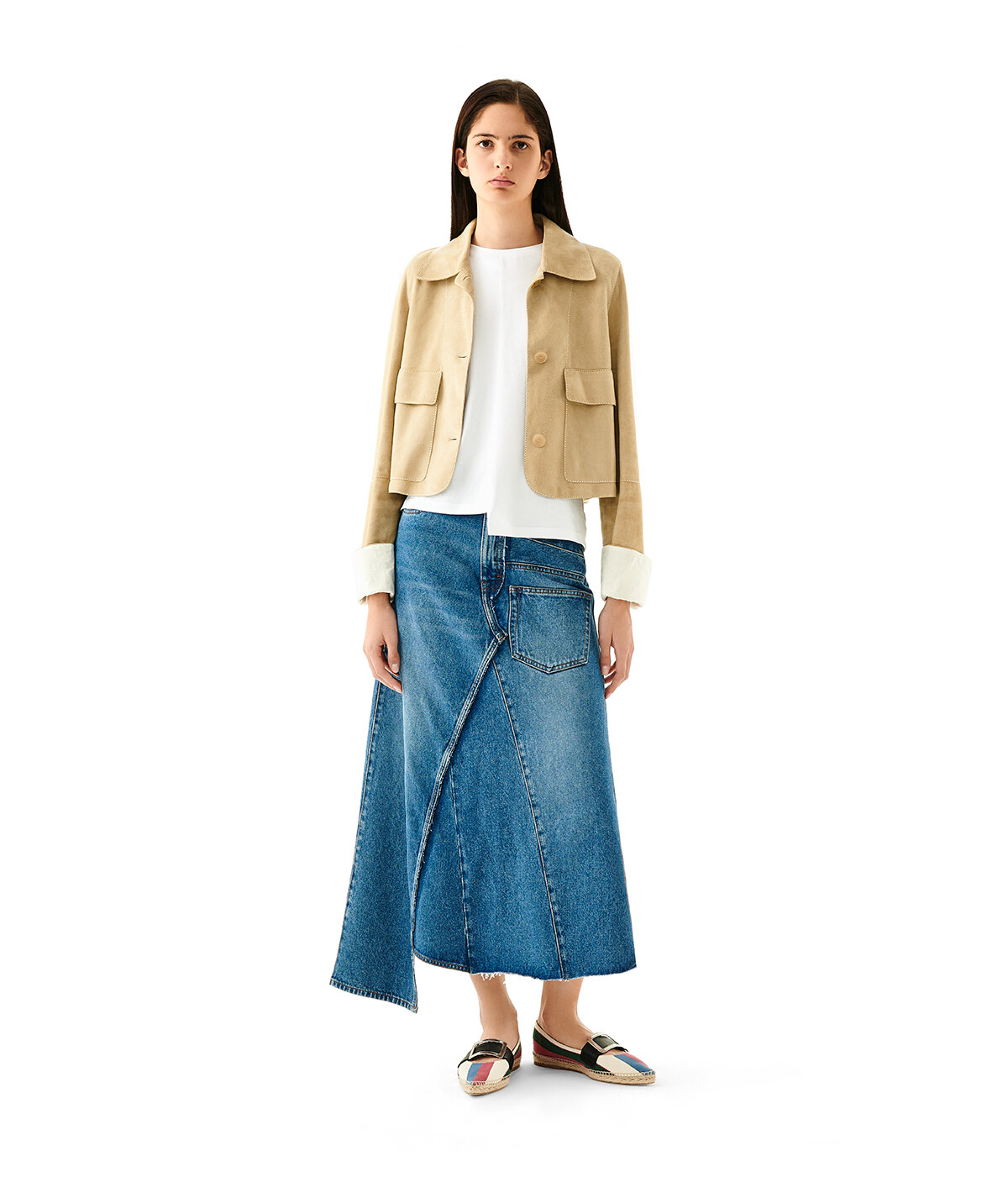 LOEWE Button Jacket Gold front