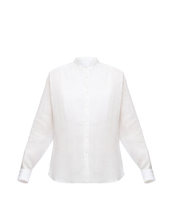 Mao Collar Bib Shirt