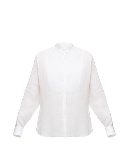 Mao Collar Bib Shirt