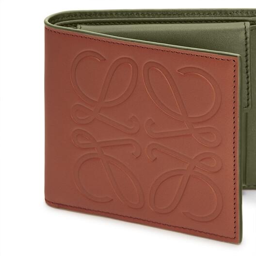 LOEWE Brand Bifold Coin Wallet Honey front