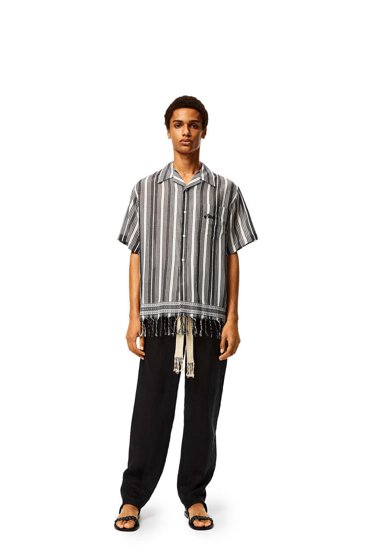 LOEWE Shirt In Striped Cotton Black/White pdp_rd