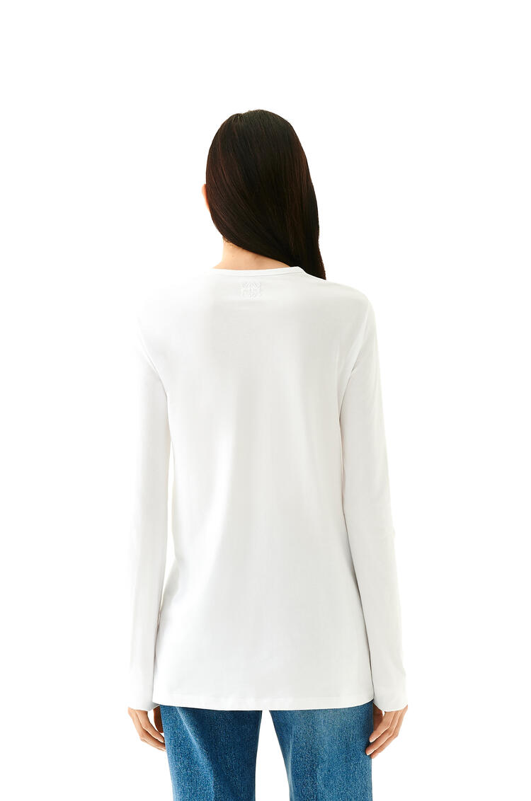 LOEWE Cut out long sleeve t-shirt in cotton White pdp_rd