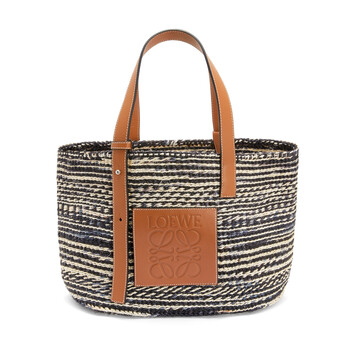 LOEWE Paula's Basket Small Bag Black/Tan front